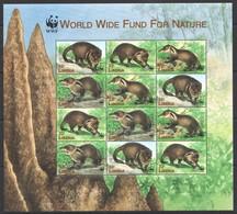 I377 LIBERIA WWF FAUNA MONGOOSE WILD ANIMALS 1KB MNH - W.W.F.