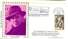 Résistance Et Déportation - Flamme Caluire Et Cuire - Jean Moulin Du 8 Juillet 1976 - X 447 - WW2