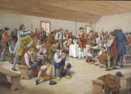 Nova Scotia, L'Ordre De La Déportation By Claude Picard Saint-Basile (PC527) - Paintings