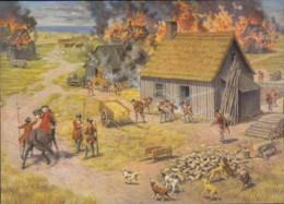Nova Scotia, Settlements Are Burned By Claude Picard Saint-Basile (PC529) - Paintings