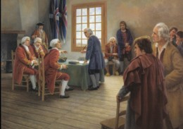 Nova Scotia, The Oath Of Allegiance By Claude Picard Saint-Basile (PC530) - Paintings