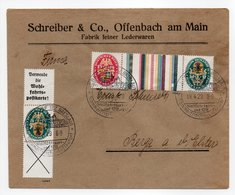- ALLEMAGNE - Lettre ALBENDORF (BZ. BRESLAU) 19.4.1929 - Superbe Affranchissement Armoiries - - Germany