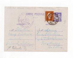 !!! PRIX FIXE : CAMP DE SCHIRMECK LA BROQUE, ENTIER POSTAL IRIS CACHET CENTRE SERJOUR SURVEILLE LABROQUE - RR - Marcophilie (Lettres)