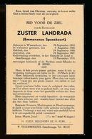 ZUSTER  EMMERANCE SPEECKAERT  WAARSCHOOT 1882  GENTBRUGGE 1935 - Esquela