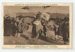 Bolivie Bolivia- Danse Des Indiens Aymaras Musiciens Panache Plumes D'autruche Missions Des Pères D'alsace - Bolivie