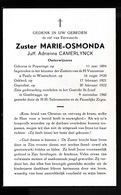 ZUSTER  EMERENCE DE CROOK  ZOMERGEM  1884  GENTBRUGGE 1962 - Overlijden