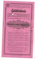 1938 BILLET DE LOTERIE EXPOSITION ARTISTIQUE MUNICHOISE / MUNICH MUNCHER  / MUNCHENER KUNSTAUSSTELLUNG B269 - Billets De Loterie