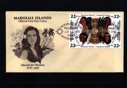 Marshall Island 1985 Decade For Women FDC - Marshall Islands
