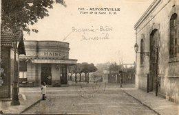CPA - ALFORTVILLE (94) - Aspect De La Brasserie-Bière Dumesnil De La Place De La Gare En 1928 - Alfortville