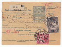 Yugoslavia Kingdom SHS - Croatia Postal Delivery Note Poštanski Otpremni List 1922 Zagreb Karlovac B181010 - Croatie