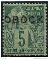 Obock (1892) N 13 * (charniere) - Obock (1892-1899)