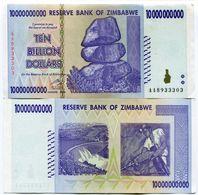 Zimbabwe 10 Billion Dollars AA Prefix 2008 Banknote XF P85 - Zimbabwe