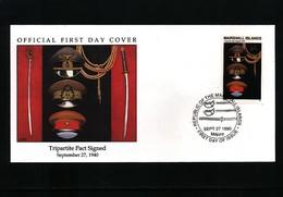 Marshall Island 1990  WW II Tripartite Pact Signed FDC - Seconda Guerra Mondiale