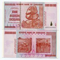 Zimbabwe 2008 5 Billion UNC Money Inflation Currency - P 84 - Zimbabwe
