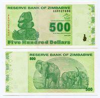 Zimbabwe $500 New Dollar 2009 Super Rare Banknote - P 98 - Zimbabwe