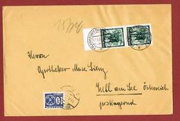 Postlagernd Nachporto Poste Restante   Ab 1/7/1930 : 10 Gr.  G F Brief 2 Scan - 1918-1945 1ère République