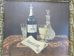 Belle Et Grande Chromo Publicitaire Encadrée Vers 1900 - Pernod Fils, Pontarlier - Alcools