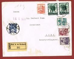 Postlagernd Nachporto Poste Restante   Ab 1/7/1930 : 10 Gr.  G F Brief Reco 2 Scan - 1918-1945 1ère République