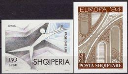 Tanz/Demokratie CEPT 1995 Albania Blocks 101+104 ** 11€ Brücke M/s Blocs Art Sheets Ss Bf 50 Years EUROPA Shqiperia - Albanie
