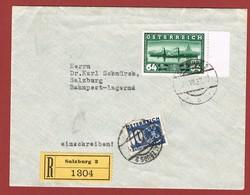 Postlagernd Nachporto Poste Restante   Ab 1/7/1930 : 10 Gr.  Reco  Brief - Briefe U. Dokumente