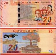 BOLIVIA       20 Bolivianos       P-New       L. 1986 (2018)       UNC  [Series A - Oberthur] - Bolivie