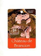 Fiche Visite Chateau Brancion - Publicités