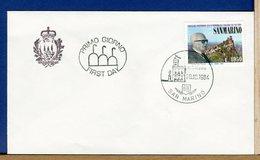 SAN MARINO  -  FDC  1984  -  VISITA PRESIDENTE REPUBBLICA ITALIANA PERTINI - FDC