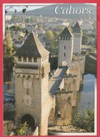 CPM-46- CAHORS - Le PONT VALENTRÉ _SUP**2 SCANS - Cahors