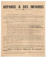 TRACT POLITIQUE ARPES 2EME GUERRE / TOURS / SFIO / FERDINAND MORIN /  JEAN MEUNIER / TOURS INDRE ET LOIRE Z1 - Historical Documents