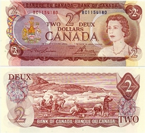 CANADA        2 Dollars      P-86a       1974        UNC - Canada