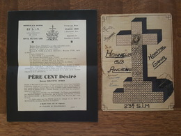 Documents Du 23è S.I.M. à L'Hopital Militaire Gama - Détachement De Toul - Classe 1932 - Père Cent Désiré Et Dessin - Documents