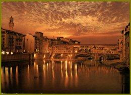 CP Italie, 26 Ed.Innocenti-FIRENZE - Notturno Sull'Arno-River Arno By Night - Contre La Lumière