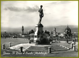 CP Italie,vera Fotografia-169 Pratesi-FIRENZE -Il David Al  Piazzale Michelangelo-The David At Michelangelo Square - Monuments