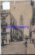 101199 URUGUAY MONTEVIDEO STREET CALLE SARANDI & TRANVIA TRAMWAY DAMAGED POSTAL POSTCARD - Uruguay