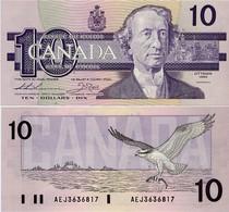 CANADA        10 Dollars      P-96a       1989        UNC - Canada