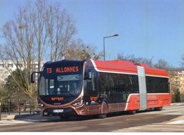 Bus Autocars Car Autobus Le Mans Bus Service Crealis18 Iveco Terminus Allonnes - Buses & Coaches