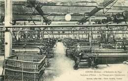 RHONE COURS  L'industrie Du Pays  Intérieur D'usine  Le Tissage Pour Couverture - Cours-la-Ville