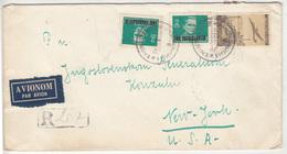 Yugoslavia Air Mail Letter Cover Travelled Registered 1950 Zrenjanin To New York B181010 - 1945-1992 Sozialistische Föderative Republik Jugoslawien