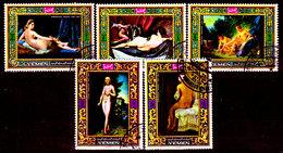 Yemen-0008 - Arte Pittorica (o) Used - Senza Difetti Occulti. - Yemen