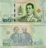 THAILAND       20 Baht       P-New      ND (2018)        UNC  [ Sign. 87 ] - Tailandia