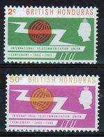 British Honduras 1965 Set Of Stamps Celebrating International Telecommunications Union. - British Honduras (...-1970)