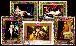 Yemen-0009 - Arte Pittorica (o) Used - Senza Difetti Occulti. - Yemen