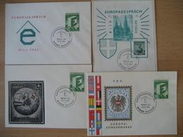 Österreich- 4 Belege Vom Europagespräch 1961 Im Wiener Rathaus - 1945-.... 2ème République