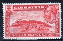 Gibraltar 1931 George V Single One Penny Scarlet Definitive Stamp. - Gibraltar