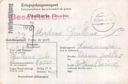 CARTE ACCUSE RECEPTION COLIS PRISONNIER DE GUERRE STALAG IV G  CACHET BESETZTES GEBIET TERRITOIRE OCCUPE 1941 - Guerra Del 1939-45