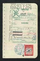 OMAN Revenue Stamps On Used Passport Visas Page 1984 - Oman