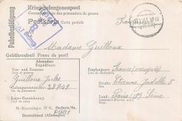 CARTE ACCUSE RECEPTION COLIS PRISONNIER DE GUERRE STALAG IV G  CACHET BESETZTES GEBIET TERRITOIRE OCCUPE 1943 - Guerra Del 1939-45