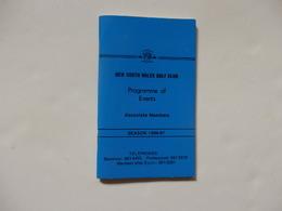 """Fascicule 64 P Pour L'association Des Membres """"Programme Of Events"""" Du New Soutf Wales Golf Club En Australie. - Autres Collections"""