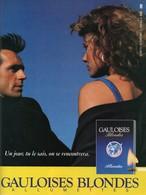 Ancienne Publicité Papier - Advertising Paper - Gauloises Allumettes - Publicités