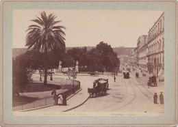 Photo Ancienne  Naples Napoli  Riviera Di Chiaia Photo Sommer  Italie Italia  Vers 1880 - Anciennes (Av. 1900)